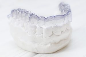 Invisalign on dental mold
